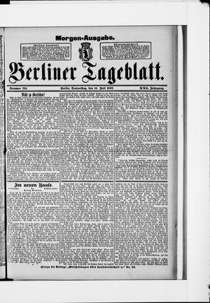 Berliner Tageblatt und Handels-Zeitung vom 14.07.1892