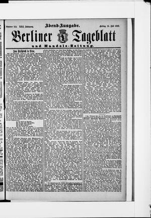 Berliner Tageblatt und Handels-Zeitung vom 15.07.1892