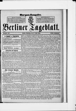 Berliner Tageblatt und Handels-Zeitung vom 17.07.1892