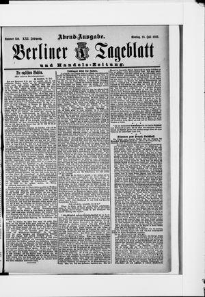 Berliner Tageblatt und Handels-Zeitung vom 18.07.1892
