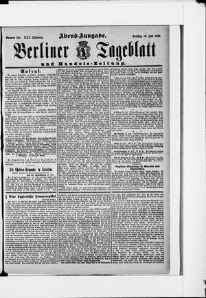 Berliner Tageblatt und Handels-Zeitung vom 19.07.1892