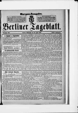 Berliner Tageblatt und Handels-Zeitung vom 20.07.1892