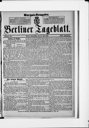 Berliner Tageblatt und Handels-Zeitung vom 21.07.1892