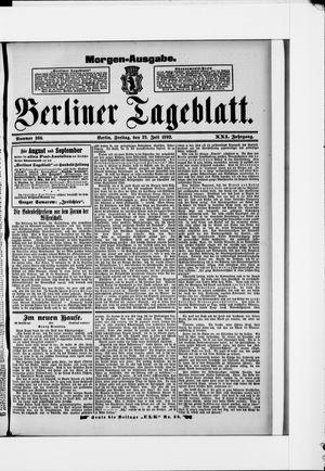 Berliner Tageblatt und Handels-Zeitung vom 22.07.1892