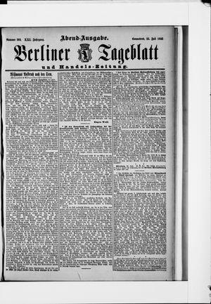 Berliner Tageblatt und Handels-Zeitung vom 23.07.1892