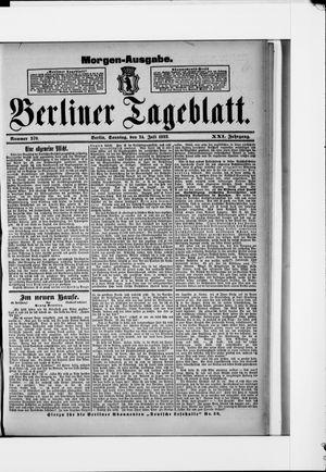Berliner Tageblatt und Handels-Zeitung vom 24.07.1892