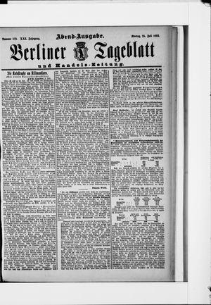 Berliner Tageblatt und Handels-Zeitung vom 25.07.1892