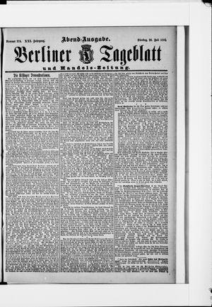 Berliner Tageblatt und Handels-Zeitung vom 26.07.1892