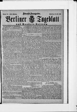 Berliner Tageblatt und Handels-Zeitung vom 28.07.1892