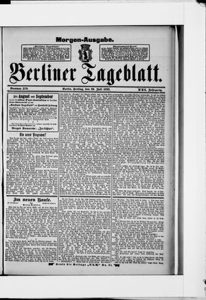 Berliner Tageblatt und Handels-Zeitung vom 29.07.1892