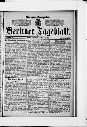 Berliner Tageblatt und Handels-Zeitung vom 30.07.1892