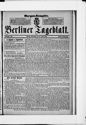 Berliner Tageblatt und Handels-Zeitung on Jul 31, 1892