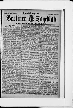 Berliner Tageblatt und Handels-Zeitung vom 01.08.1892