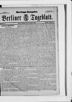 Berliner Tageblatt und Handels-Zeitung vom 02.01.1893