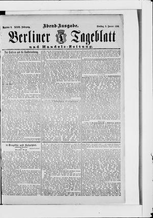 Berliner Tageblatt und Handels-Zeitung vom 03.01.1893
