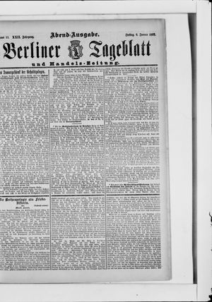 Berliner Tageblatt und Handels-Zeitung vom 06.01.1893