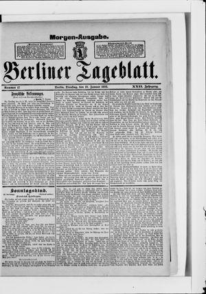 Berliner Tageblatt und Handels-Zeitung vom 10.01.1893