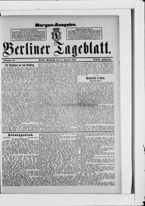 Berliner Tageblatt und Handels-Zeitung vom 11.01.1893