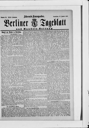 Berliner Tageblatt und Handels-Zeitung vom 12.01.1893