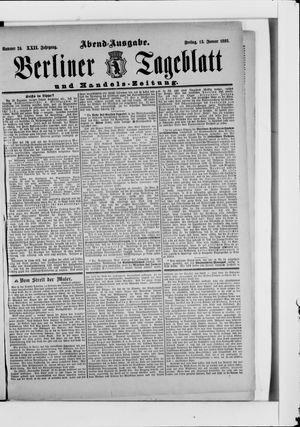 Berliner Tageblatt und Handels-Zeitung vom 13.01.1893
