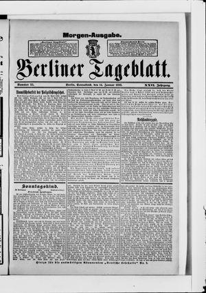 Berliner Tageblatt und Handels-Zeitung on Jan 14, 1893