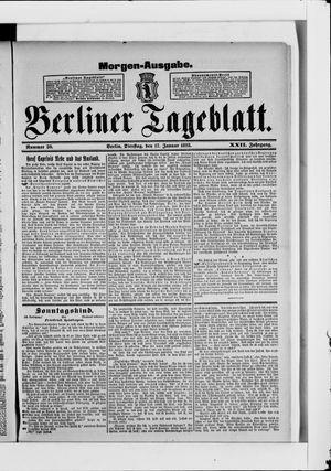 Berliner Tageblatt und Handels-Zeitung vom 17.01.1893
