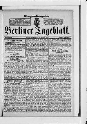 Berliner Tageblatt und Handels-Zeitung vom 18.01.1893