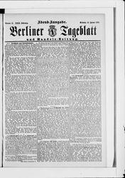 Berliner Tageblatt und Handels-Zeitung (18.01.1893)