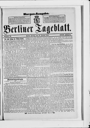 Berliner Tageblatt und Handels-Zeitung vom 20.01.1893