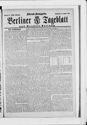 Berliner Tageblatt und Handels-Zeitung vom 21.01.1893