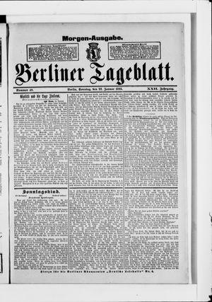 Berliner Tageblatt und Handels-Zeitung vom 22.01.1893