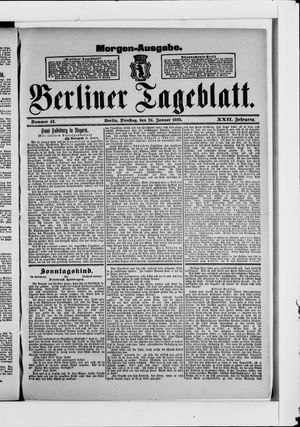 Berliner Tageblatt und Handels-Zeitung vom 24.01.1893