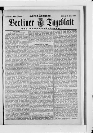 Berliner Tageblatt und Handels-Zeitung vom 25.01.1893