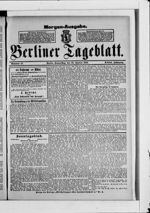 Berliner Tageblatt und Handels-Zeitung vom 26.01.1893