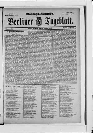 Berliner Tageblatt und Handels-Zeitung vom 30.01.1893