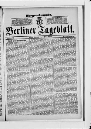 Berliner Tageblatt und Handels-Zeitung on Feb 1, 1893