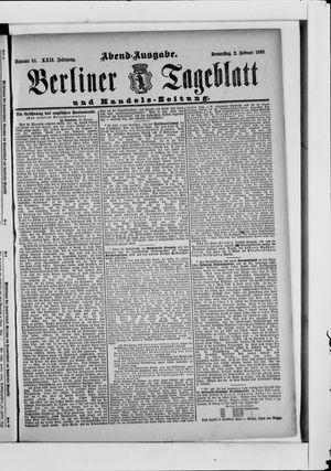 Berliner Tageblatt und Handels-Zeitung vom 02.02.1893