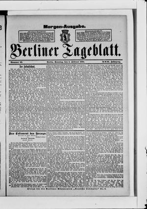 Berliner Tageblatt und Handels-Zeitung on Feb 5, 1893