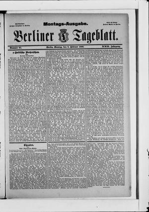 Berliner Tageblatt und Handels-Zeitung on Feb 6, 1893