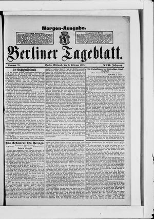 Berliner Tageblatt und Handels-Zeitung vom 08.02.1893