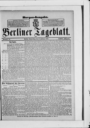 Berliner Tageblatt und Handels-Zeitung vom 09.02.1893