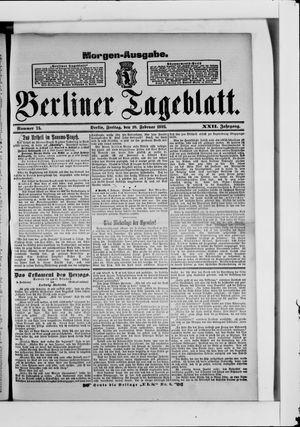 Berliner Tageblatt und Handels-Zeitung vom 10.02.1893