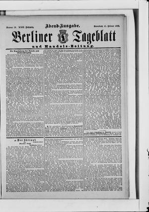 Berliner Tageblatt und Handels-Zeitung vom 11.02.1893