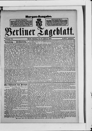 Berliner Tageblatt und Handels-Zeitung vom 12.02.1893