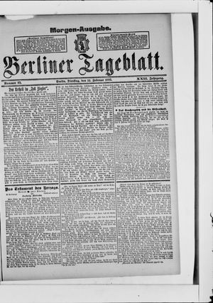 Berliner Tageblatt und Handels-Zeitung vom 14.02.1893