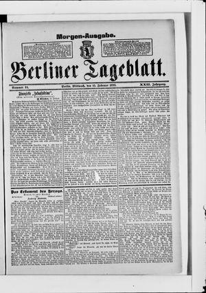 Berliner Tageblatt und Handels-Zeitung vom 15.02.1893