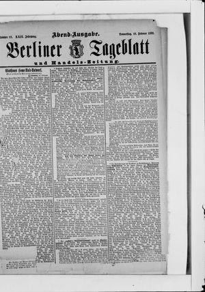 Berliner Tageblatt und Handels-Zeitung vom 16.02.1893