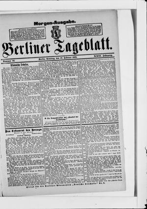 Berliner Tageblatt und Handels-Zeitung on Feb 19, 1893