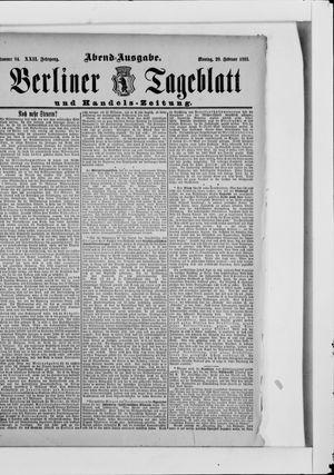Berliner Tageblatt und Handels-Zeitung vom 20.02.1893