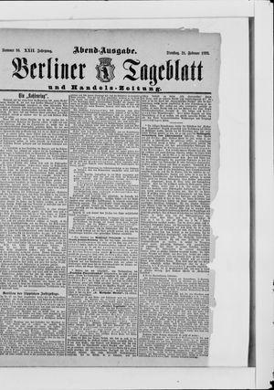 Berliner Tageblatt und Handels-Zeitung vom 21.02.1893